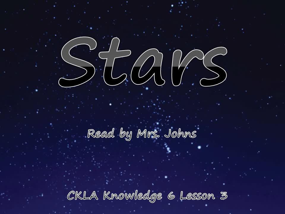 Lesson 3 Stars - Mrs. Johns